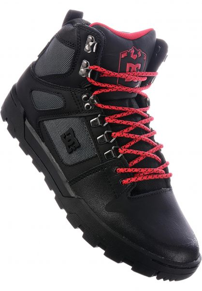 DC Shoes Alle Schuhe Pure HT WR Boot black-grey-red Vorderansicht