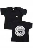 TITUS T-Shirts Circled Backprint Organic Mini black-white Vorderansicht