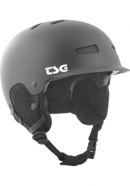 TSG Snowboardhelme Trophy Solid Color satin black Vorderansicht