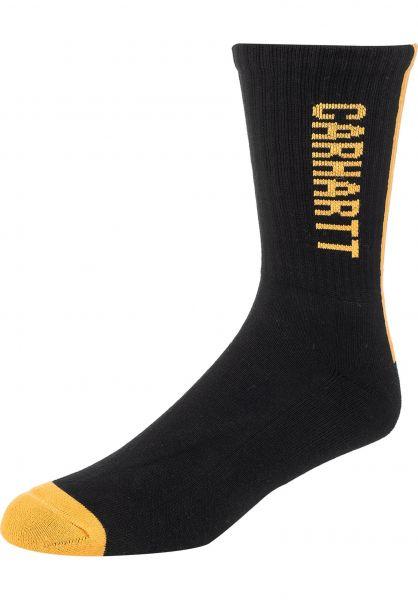 Carhartt WIP Socken Turner black-pop-orange vorderansicht 0631947