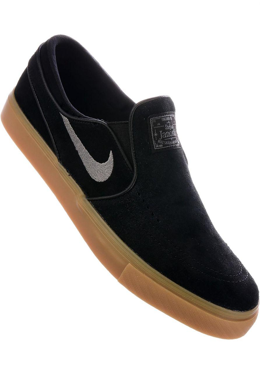 13c3a382bf929 Zoom Stefan Janoski Slip On Nike SB All Shoes in black-gunsmoke-gum for Men