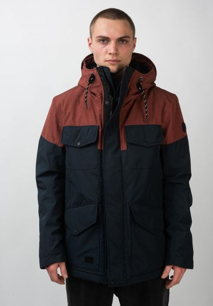 Reell Winterjacken Field Jacket 2 navy-redbrown vorderansicht 0250031