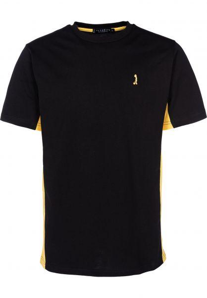 Favorite T-Shirts Little Boy black-yellow vorderansicht 0398099