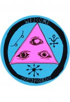 welcome-verschiedenes-latin-talisman-2-4-sticker-black-purple-teal-vorderansicht-0972413