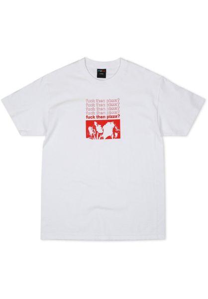 4a735b557d Pizza Skateboards T-Shirts Fuck Then Pizza white vorderansicht 0399760