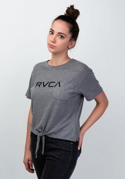 RVCA T-Shirts Big RVCA heathergrey vorderansicht 0398939