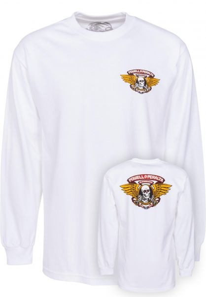 Powell-Peralta Longsleeves Winged Ripper white Vorderansicht