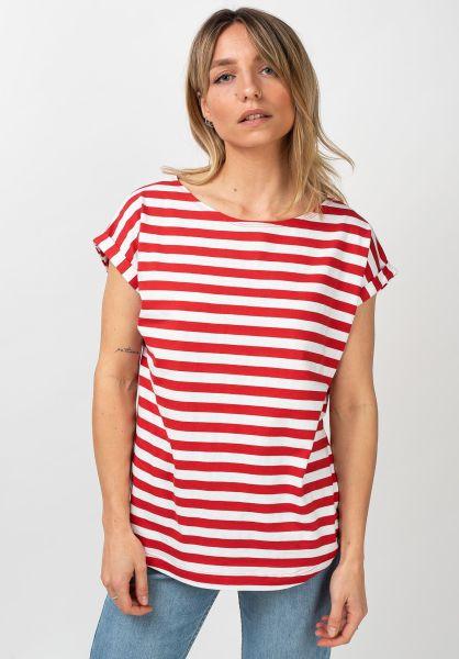 Wemoto T-Shirts Bell Striped red-white vorderansicht 0321385