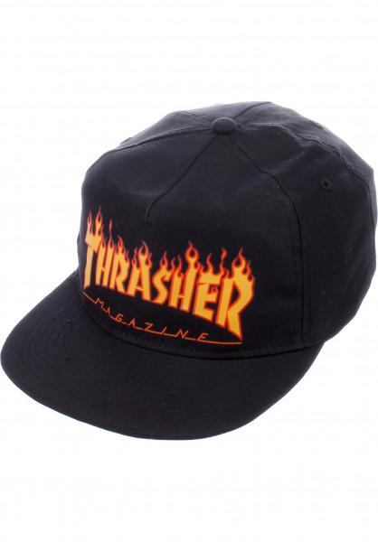 Thrasher Caps Flame black Vorderansicht