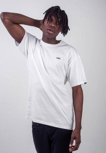 Vans T-Shirts Left Chest Logo white vorderansicht 0397675