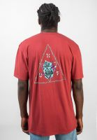 huf-t-shirts-dystopia-rosewoodred-vorderansicht-0320734