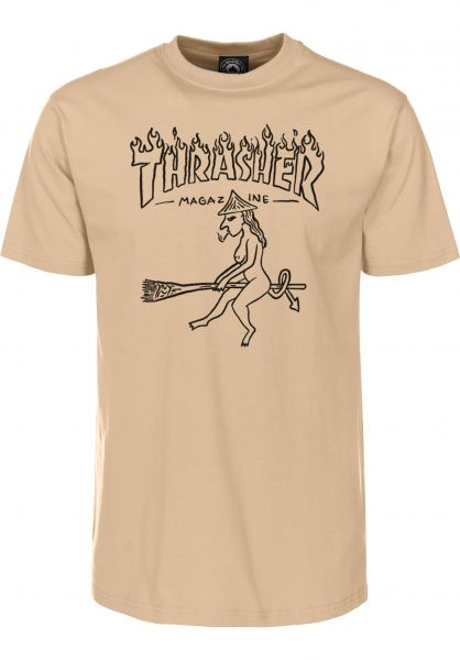 cf8f9eaca378 Thrasher T-Shirts Witch tan vorderansicht 0399149