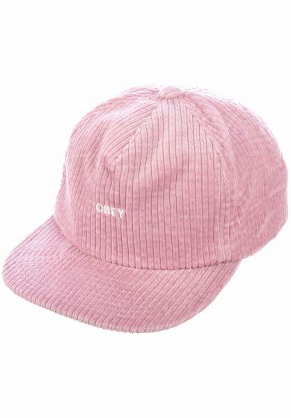 OBEY Caps Bold Cord dustyrose vorderansicht 0567000