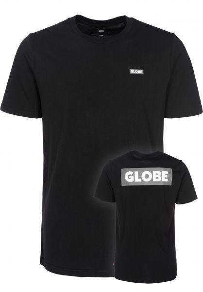 Globe T-Shirts Sticker II black-charcoal Vorderansicht