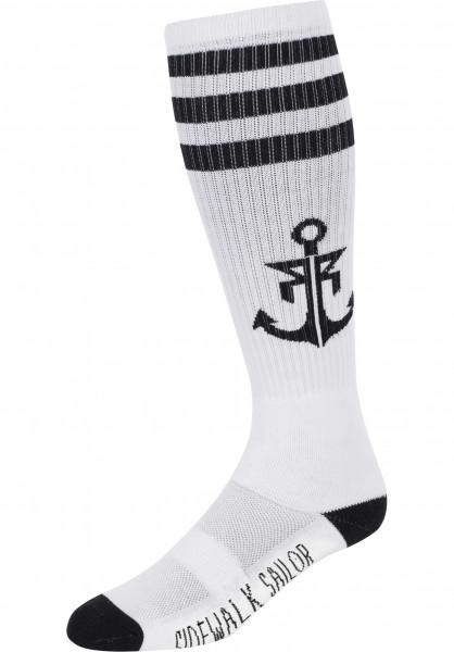 Rebel Rockers Socken Anchor white-black Vorderansicht