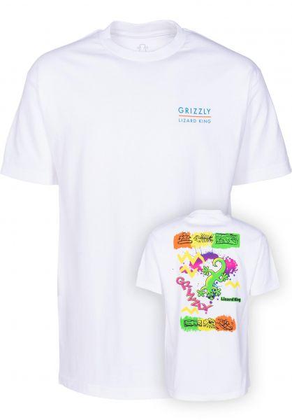 Grizzly T-Shirts Lizard King Splash white vorderansicht 0399417