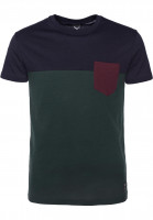 iriedaily T-Shirts Block Pocket darkforest Vorderansicht