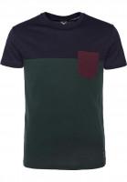 iriedaily T-Shirts Block Pocket darkforest Vorderansicht
