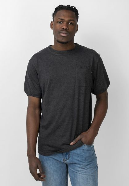 TITUS T-Shirts Eden Pocket darkgreymottled vorderansicht 0321011