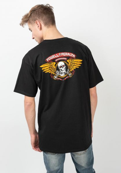 Powell-Peralta T-Shirts Winged Ripper black vorderansicht 0360934