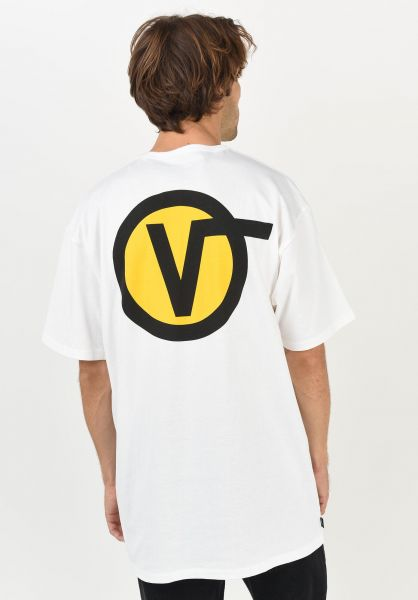 Vans T-Shirts Off The Wall Classic Circle V white vorderansicht 0321804