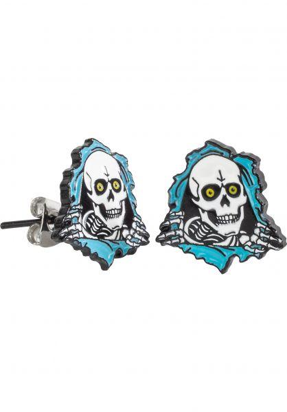 Powell-Peralta Verschiedenes Ripper Earrings silver-blue vorderansicht 0790122