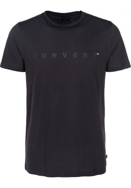 Forvert T-Shirts Esbo black Vorderansicht 0397980