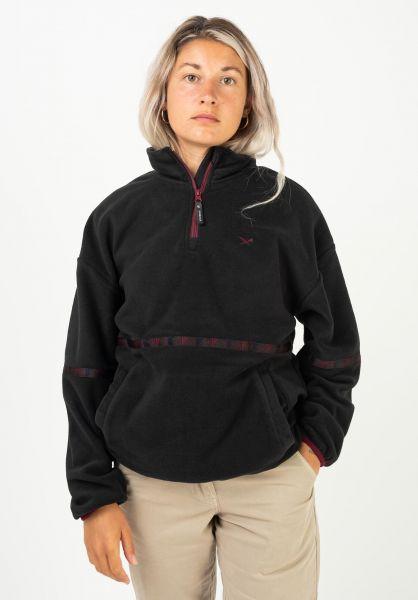 iriedaily Sweatshirts und Pullover Hopi Fleece Troyer black vorderansicht 0422703
