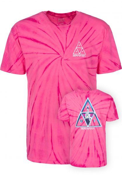 HUF T-Shirts HUF x Sorayama Wash pink Vorderansicht 35a9bdc51