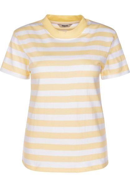 Wemoto T-Shirts Surry Striped tenderyellow-white vorderansicht 0399598