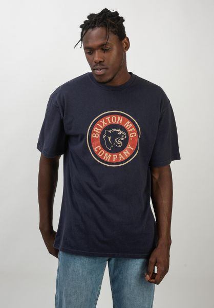 Brixton T-Shirts Forte washednavy vorderansicht 0320414