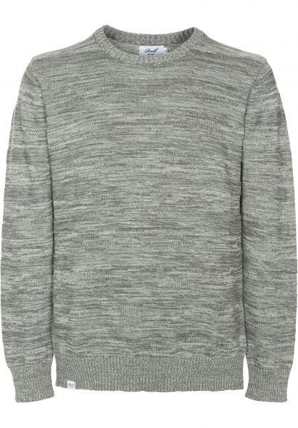 Reell Strickpullover Knitted Striped lightgrey Vorderansicht