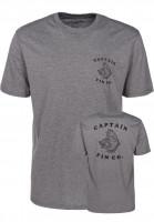 Captain-Fin-T-Shirts-Bass-heathergrey-Vorderansicht