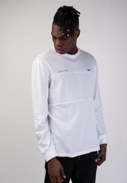Nike SB Longsleeves DFT Mesh white-photoblue vorderansicht 0383394