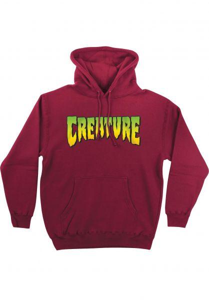 Creature Hoodies Creature Logo currant vorderansicht 0443518