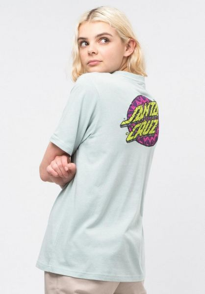 Santa-Cruz T-Shirts Psychedelic Dot cloudblue vorderansicht 0320469
