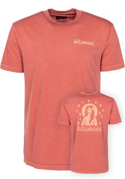 Altamont T-Shirts Island Girl rust Vorderansicht