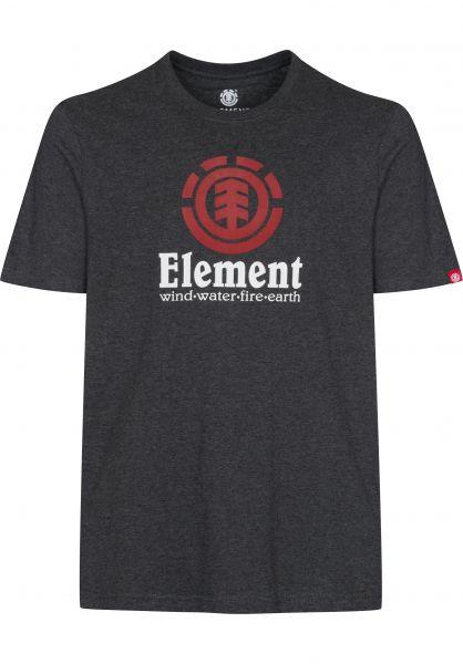 Element T-Shirts Vertical heathercharcoal Vorderansicht