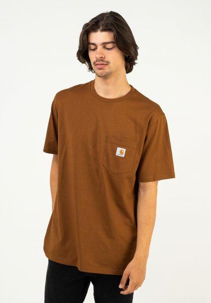 Carhartt WIP T-Shirts Pocket tawny vorderansicht 0393365
