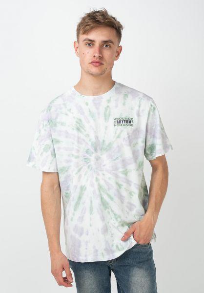 Rhythm T-Shirts Tie Dye purple-teal vorderansicht 0322041