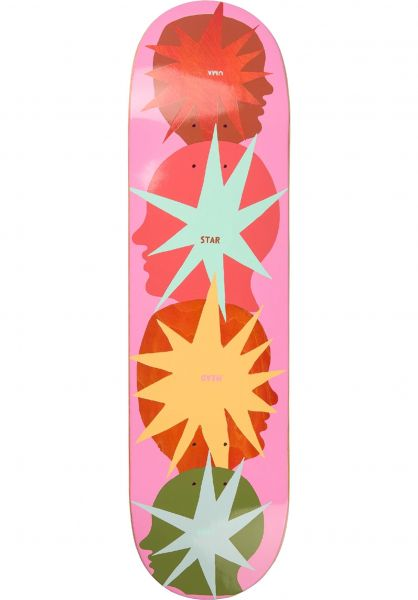 UMA Landsleds Skateboard Decks Star Head Buddies lightpink vorderansicht 0266207