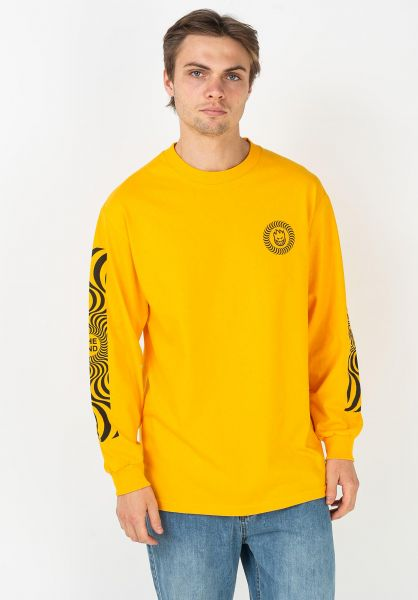 Spitfire Longsleeves Classic Swirl Sleeve yellow-black vorderansicht 0383756