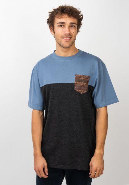 TITUS T-Shirts Ikat Pocket darkgreymottled-infinity vorderansicht 0398348