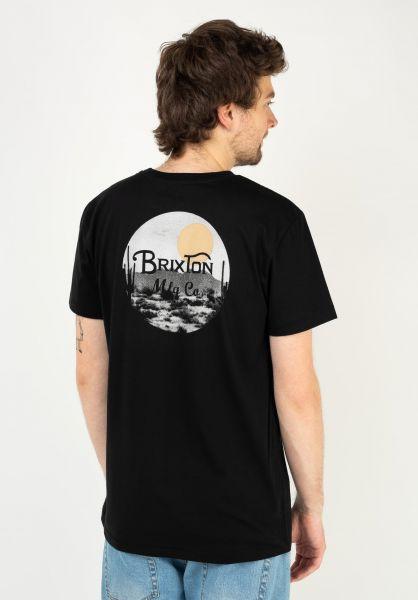 Brixton T-Shirts Wheeler II black-blonde vorderansicht 0395151