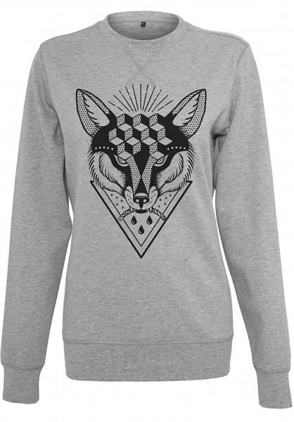 Rebel Rockers Sweatshirts und Pullover Spoty Crewneck greyheather Vorderansicht
