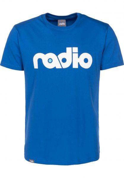Radio T-Shirts OG-Logo royal Vorderansicht