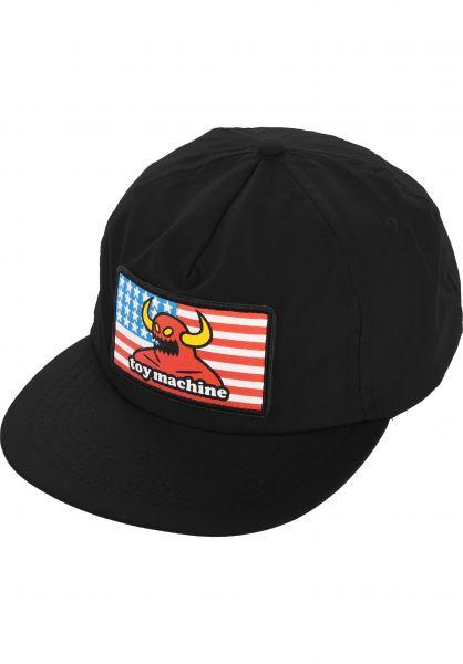 Toy-Machine Caps American Monster Unstructured black vorderansicht 0565894