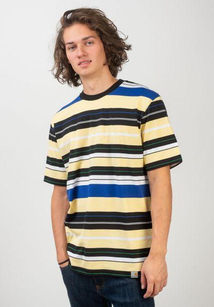 Carhartt WIP T-Shirts Flint flintstripe-paleyellow vorderansicht 0320608