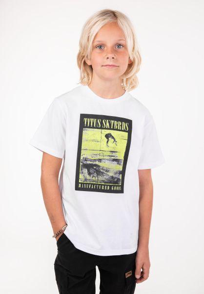 TITUS T-Shirts Manufactured Goods Kids white vorderansicht 0397390
