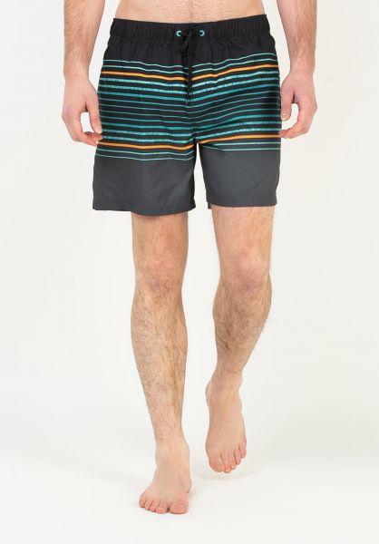 Billabong Beachwear Sprayed Stripes LB black vorderansicht 0205504
